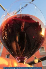 Reflecting on a Glass of Wine