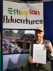 At the Wildlife and Safari Travel Show